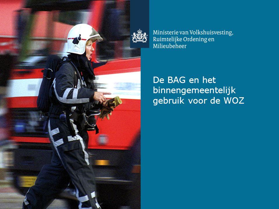De BAG en het binnengemeentelijk gebruik voor de WOZ