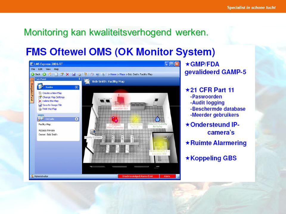 Specialist in schone lucht Presentatie OK s Seminar Lighthouse 25 en 27 november 2008 26 Monitoring kan kwaliteitsverhogend werken.
