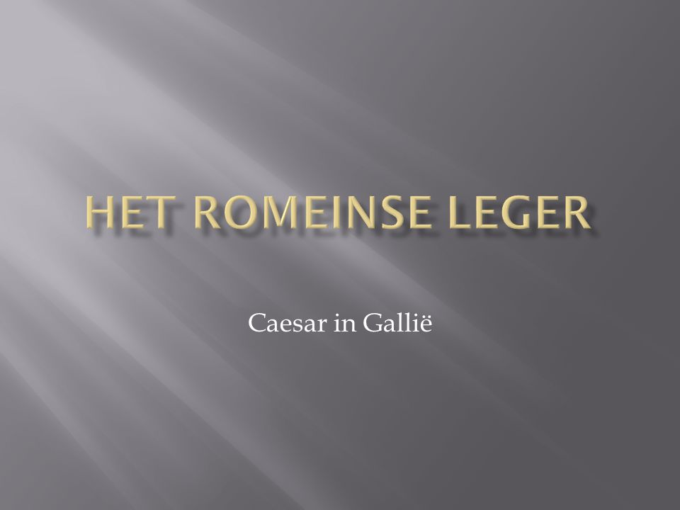 Caesar in Gallië