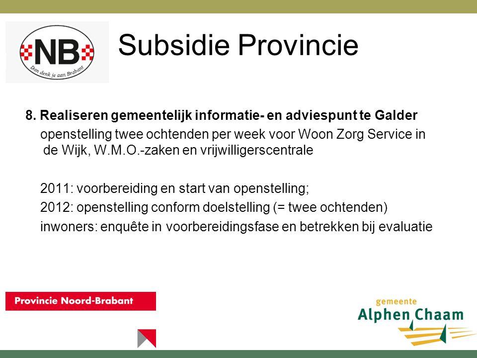 Subsidie Provincie 9.