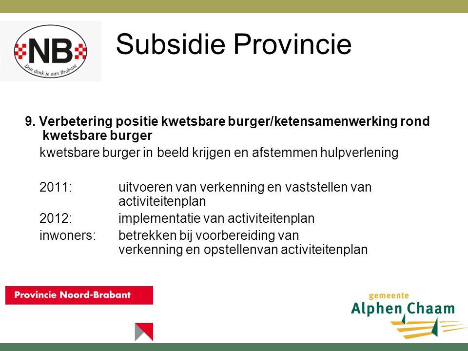 Subsidie Provincie 10.