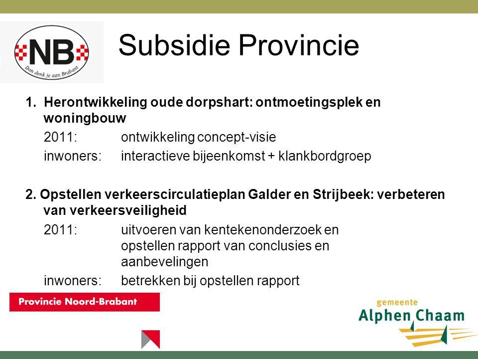 Subsidie Provincie 3.Voorbereiden herinrichting St.