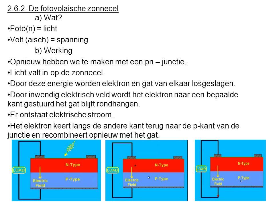 d) Schakeling •Een LED moet altijd in doorlaatzin worden geschakeld. •Je mag een LED nooit direct aan een spanningsbron schakelen. •Er moet steeds een