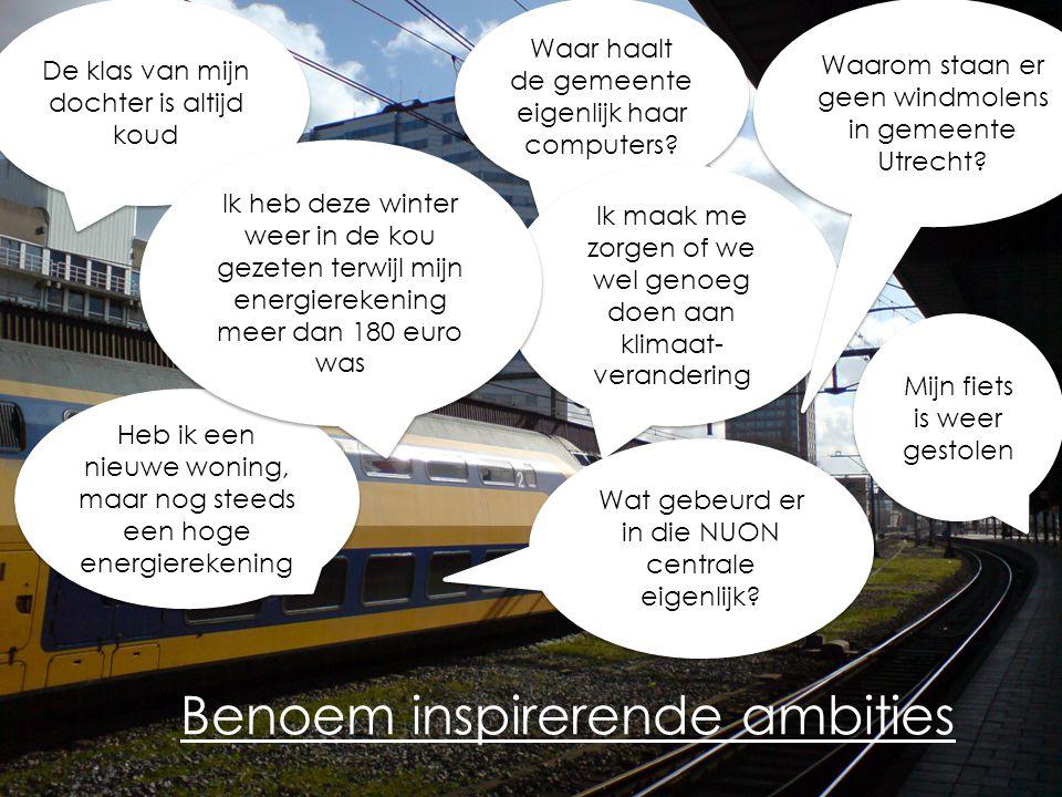 Benoem inspirerende ambities Heb ik een nieuwe woning, maar nog steeds een hoge energierekening Waar haalt de gemeente eigenlijk haar computers.