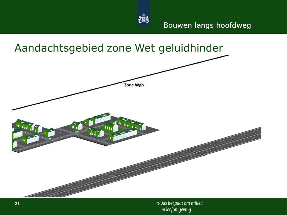 21 Aandachtsgebied zone Wet geluidhinder Bouwen langs hoofdweg