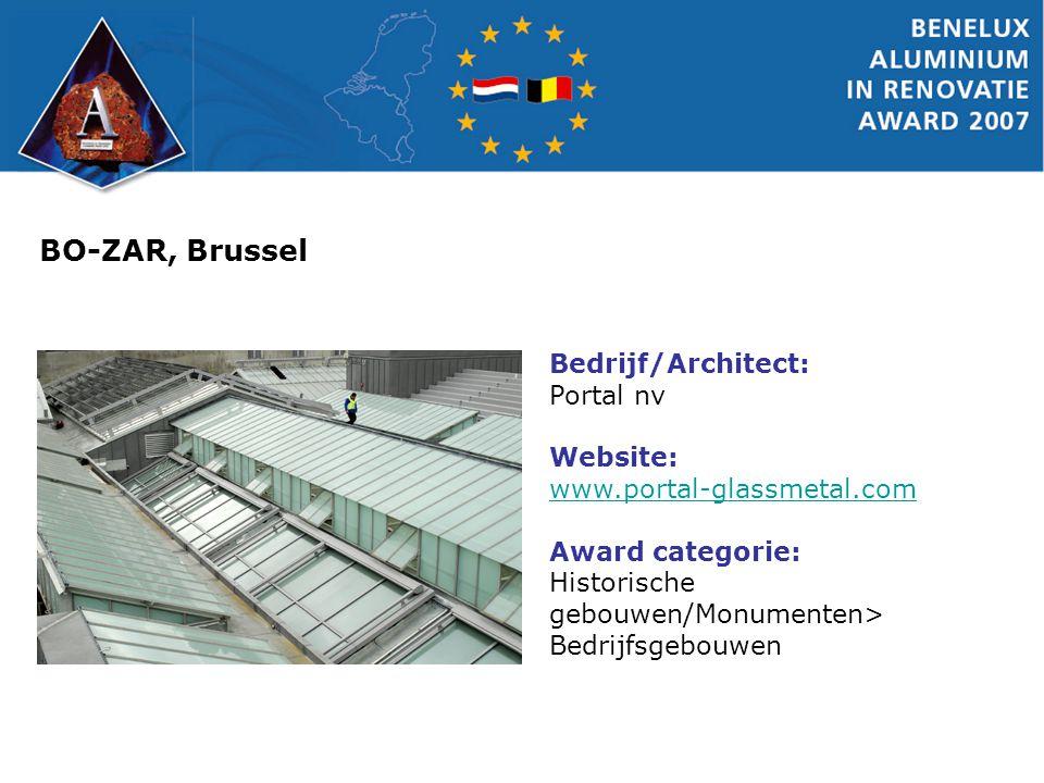 BO-ZAR, Brussel Bedrijf/Architect: Portal nv Website: www.portal-glassmetal.com Award categorie: Historische gebouwen/Monumenten> Bedrijfsgebouwen
