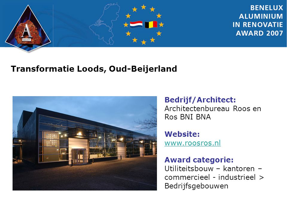 Casino Kursaal, Oostende Bedrijf/Architect: Sapa RC System bv Website: www.sapabuildingsystem.nl Award Categorie: Historische gebouwen/ Monumenten > Bedrijfsgebouwen
