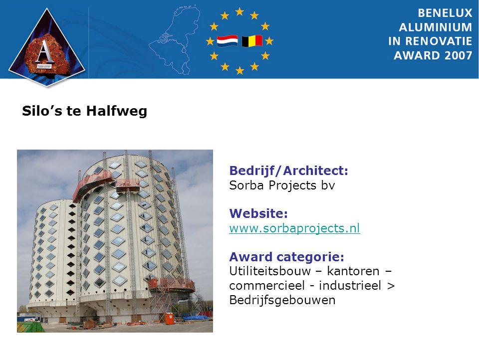 Silo's te Halfweg Bedrijf/Architect: Sorba Projects bv Website: www.sorbaprojects.nl www.sorbaprojects.nl Award categorie: Utiliteitsbouw – kantoren –