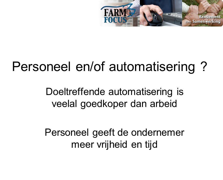 Personeel en/of automatisering .