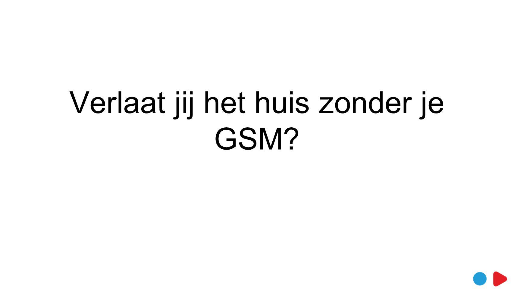 Verlaat jij het huis zonder je GSM?