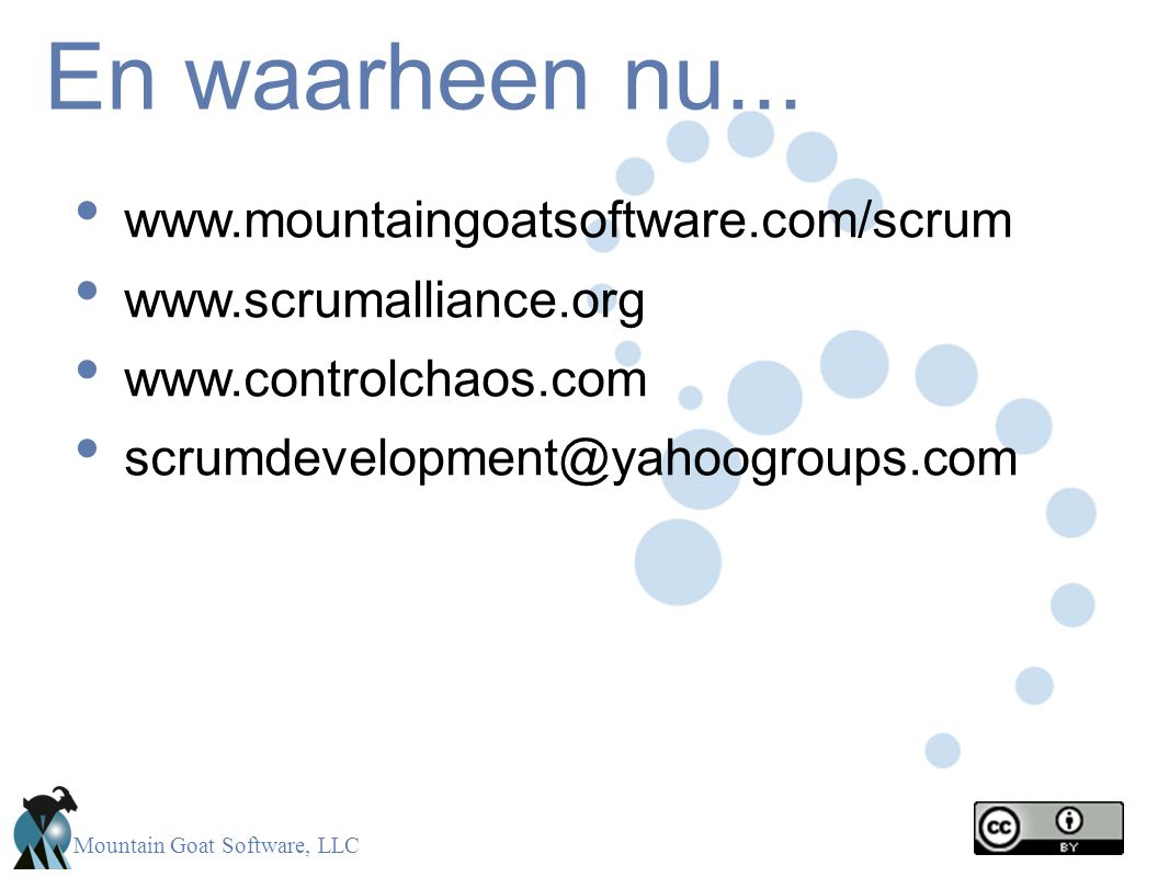 Mountain Goat Software, LLC En waarheen nu...