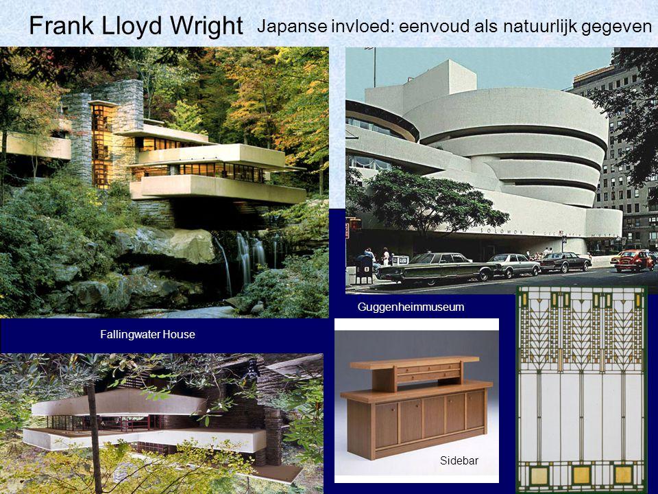 Frank Lloyd Wright Fallingwater House Guggenheimmuseum Japanse invloed: eenvoud als natuurlijk gegeven Sidebar