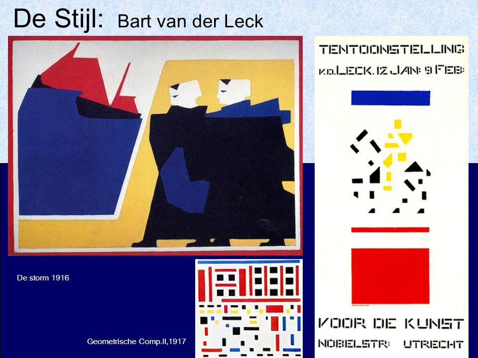 De Stijl: Bart van der Leck De storm 1916 Geometrische Comp.II,1917