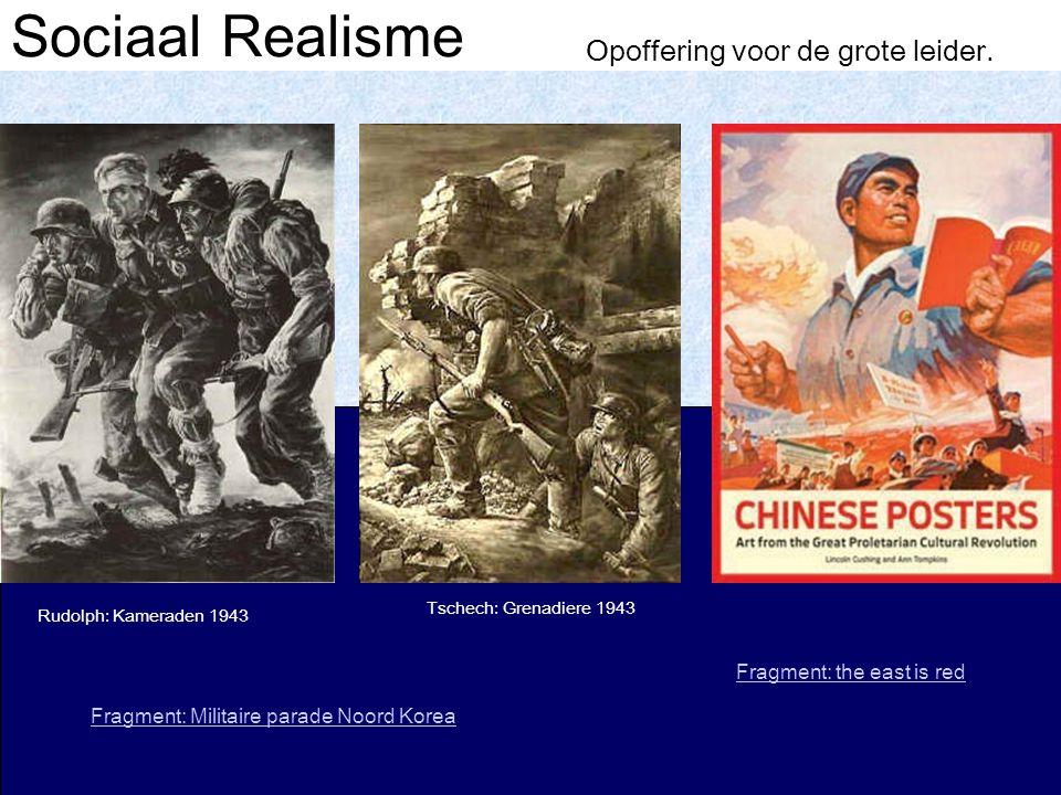 Sociaal Realisme Opoffering voor de grote leider.