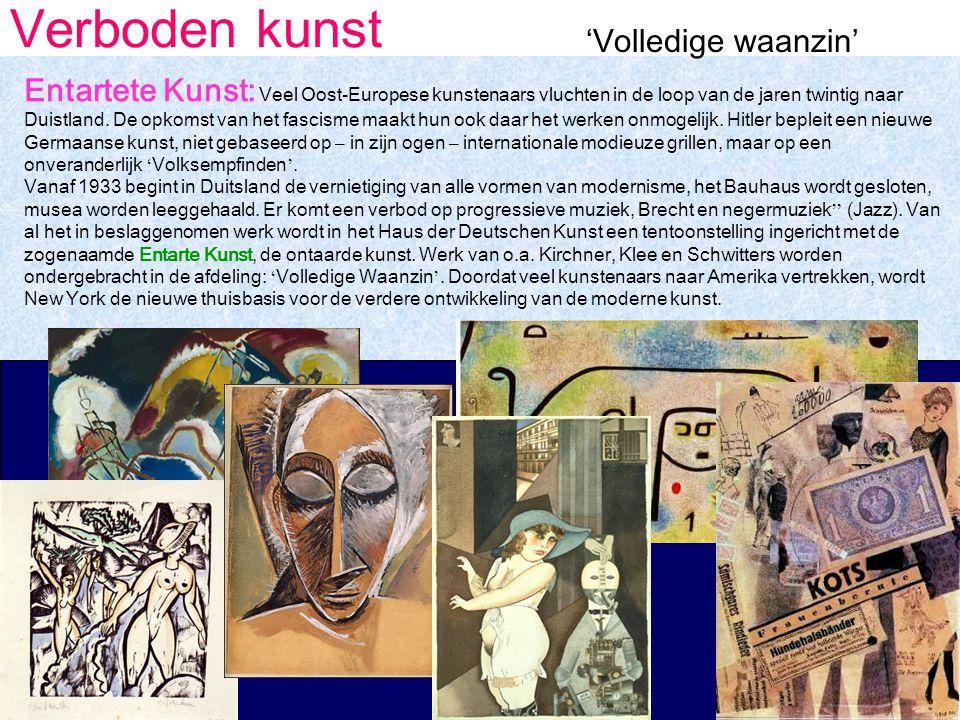 Verboden kunst 'Volledige waanzin' Entartete Kunst: Veel Oost-Europese kunstenaars vluchten in de loop van de jaren twintig naar Duistland.
