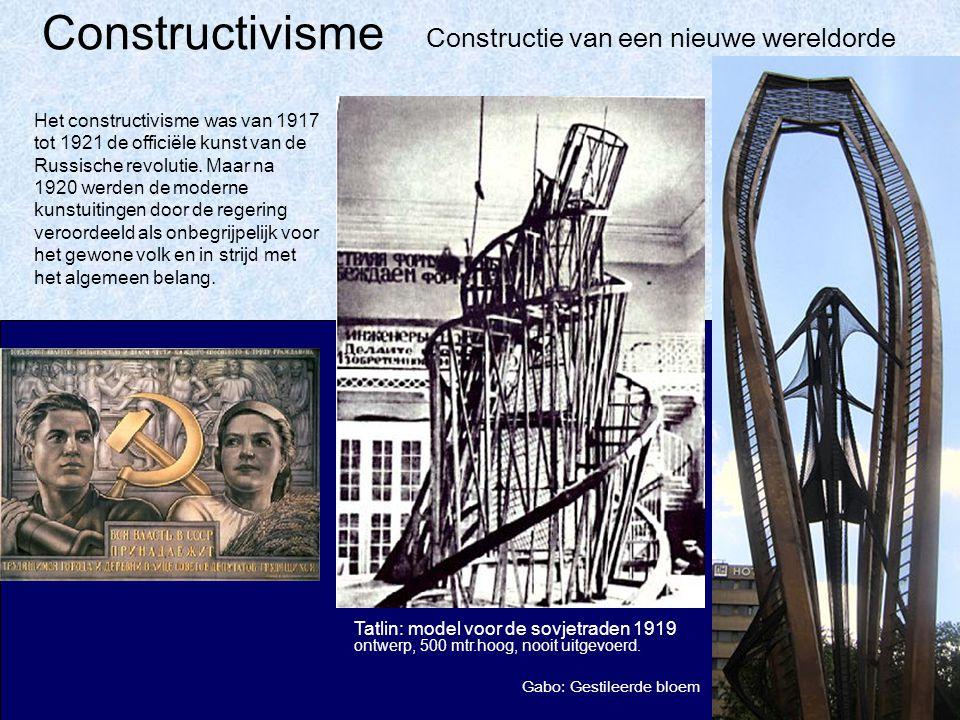 Constructivisme Tatlin: model voor de sovjetraden 1919 ontwerp, 500 mtr.hoog, nooit uitgevoerd.