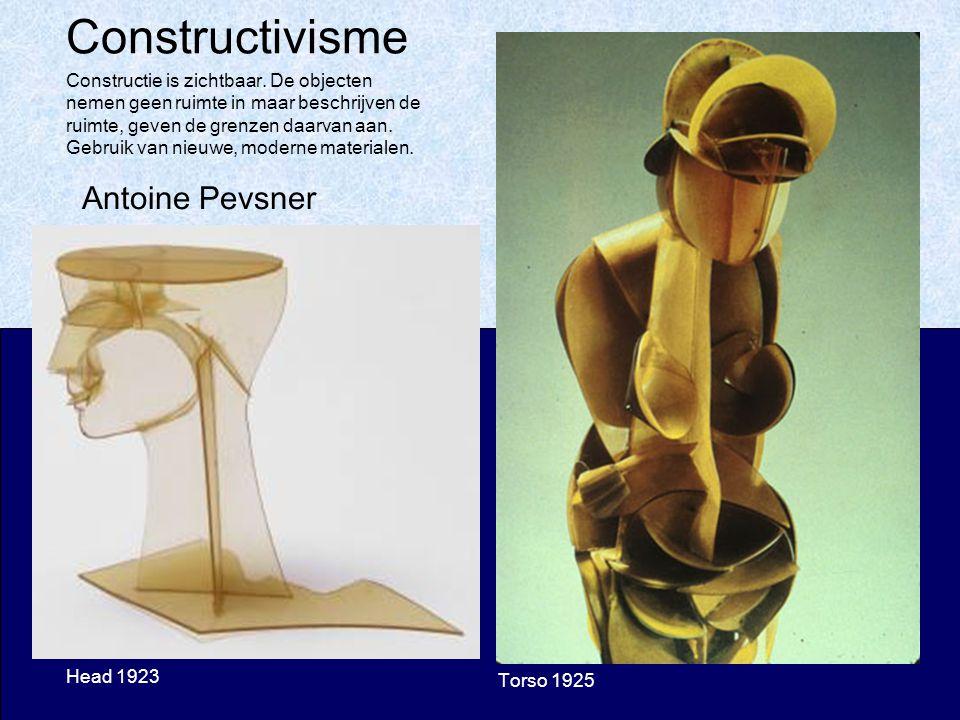 Constructivisme Head 1923 Torso 1925 Antoine Pevsner Constructie is zichtbaar.