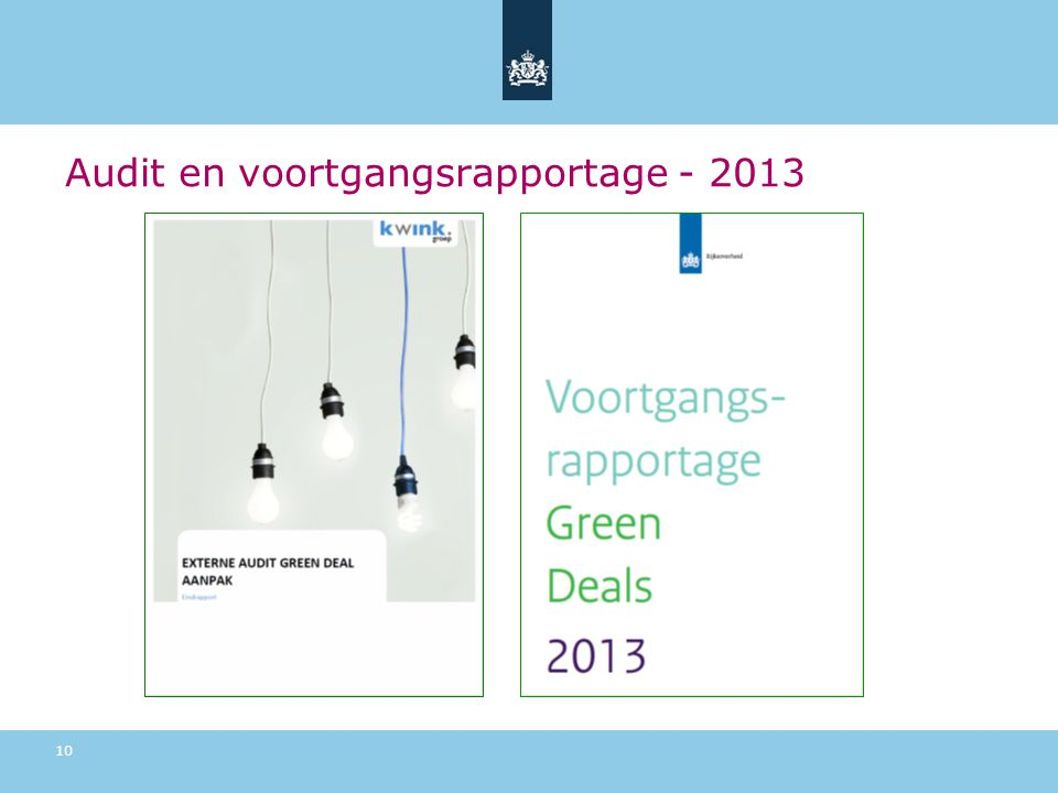 Audit en voortgangsrapportage - 2013 10