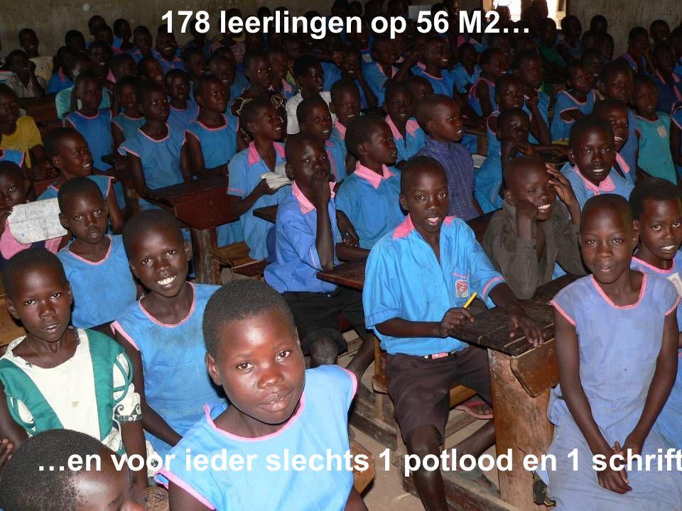 178 leerlingen op 56 M2… …en voor ieder slechts 1 potlood en 1 schrift.