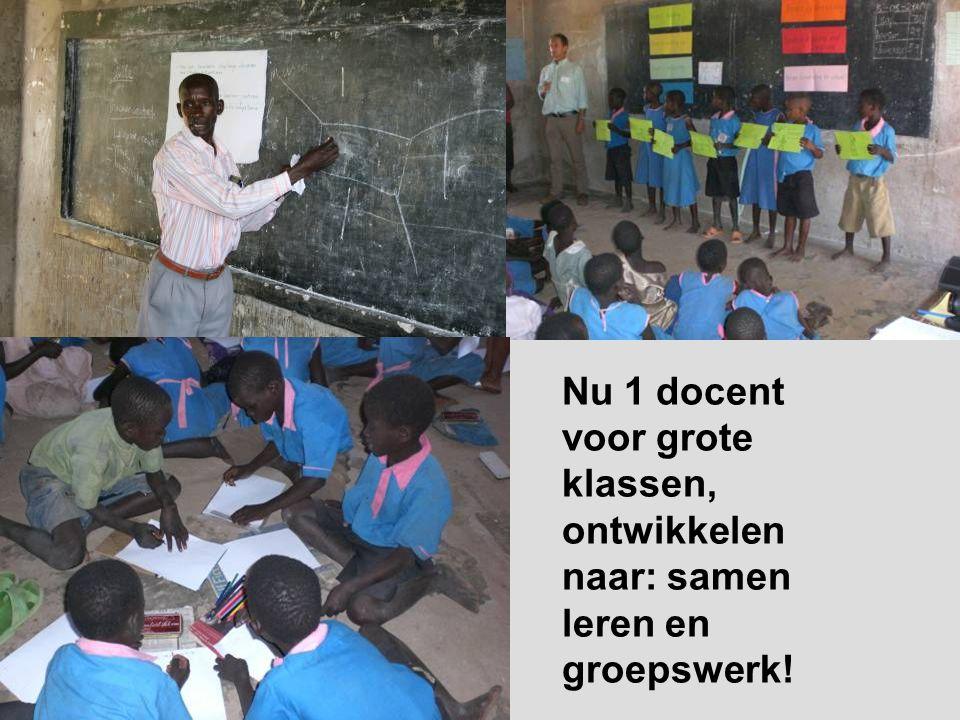 Nu 1 docent voor grote klassen, ontwikkelen naar: samen leren en groepswerk!