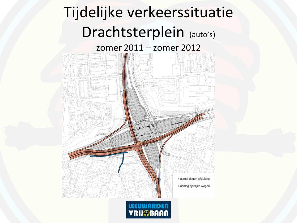 Tijdelijke verkeerssituatie Drachtsterplein (fietsers en voetgangers) zomer 2011 – einde 2012