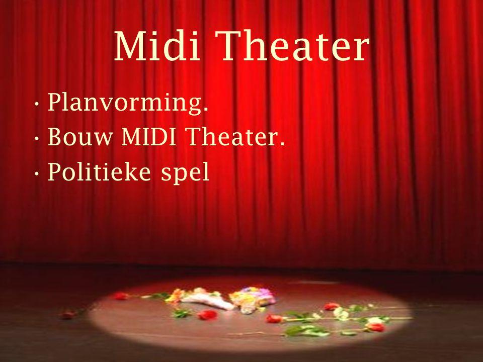 Midi Theater •Laagdrempelig Theater •Onderwijs •Media