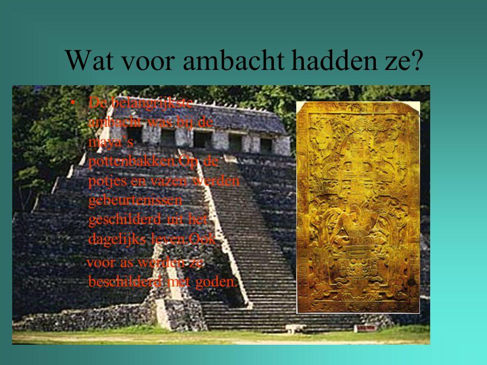 Waar staan maya's om bekend.