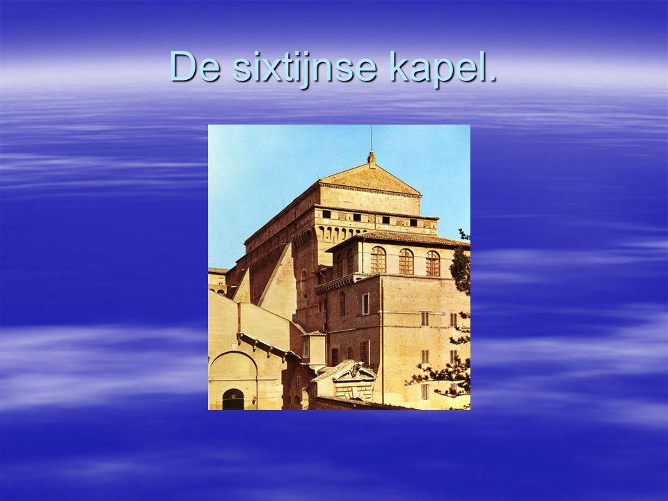 Inhoud. Algemene informatie over de sixtijnse kapel.