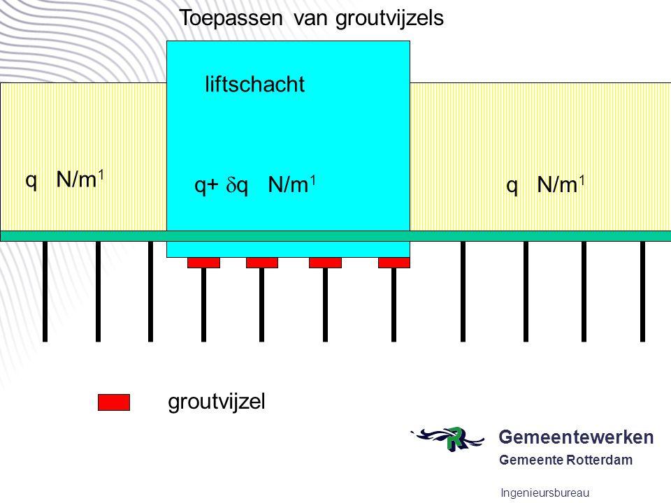 Gemeentewerken Gemeente Rotterdam Ingenieursbureau situatie na sloop van een deel van de fundering