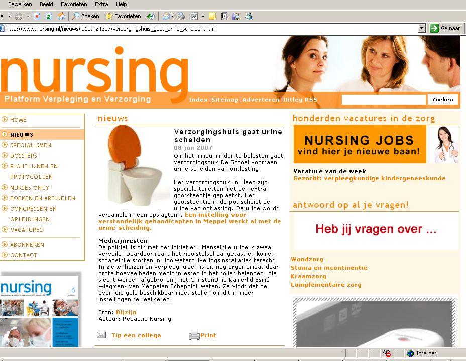 Stand van zaken juni 2007