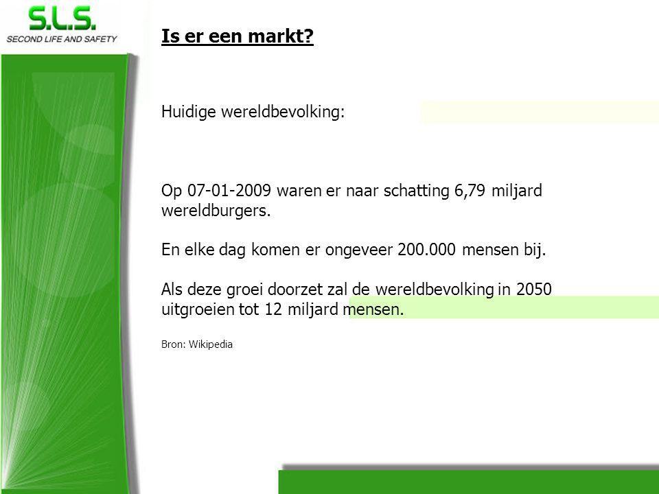 Is er een markt? Huidige wereldbevolking: Op 07-01-2009 waren er naar schatting 6,79 miljard wereldburgers. En elke dag komen er ongeveer 200.000 mens