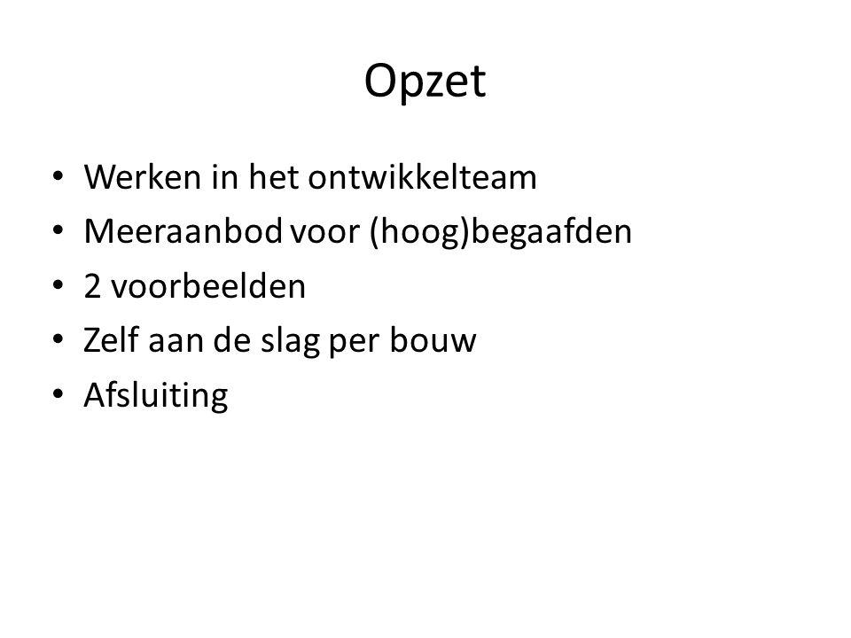 Ontwikkelteam SKO West-Friesland •Raamwerk Protocol Hoogbegaafdheid • • Werkgroep Talentcoördinatoren •