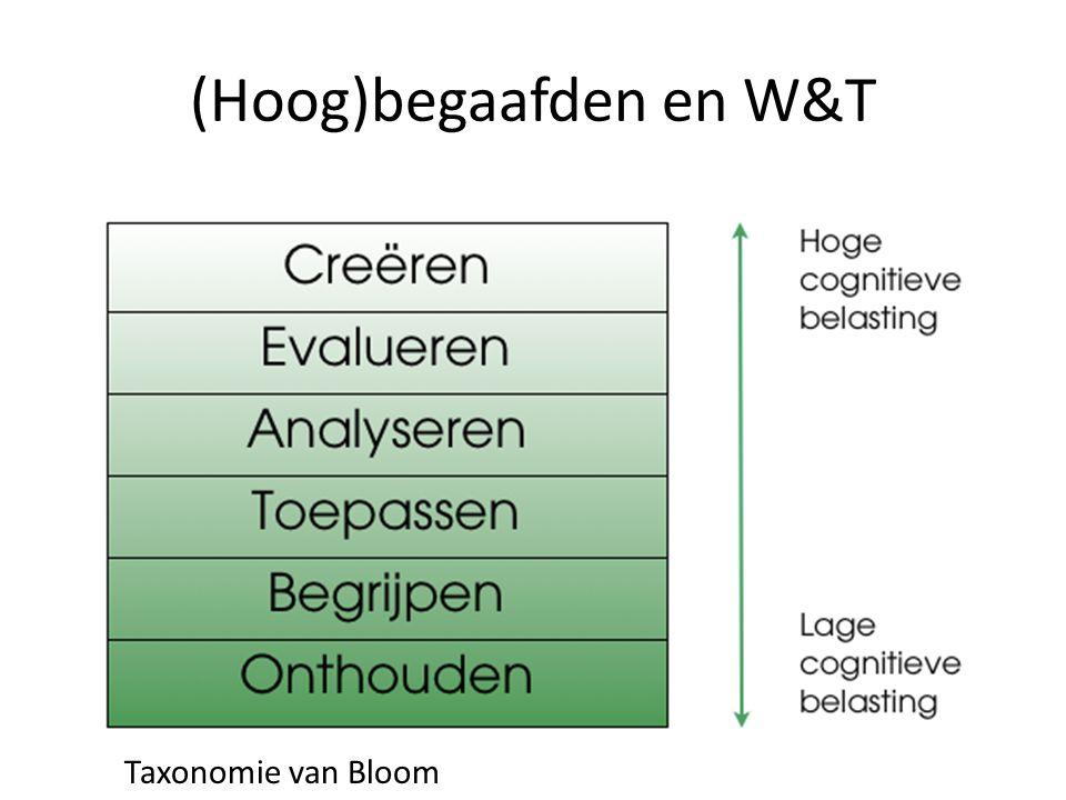 (Hoog)begaafden en W&T Taxonomie van Bloom