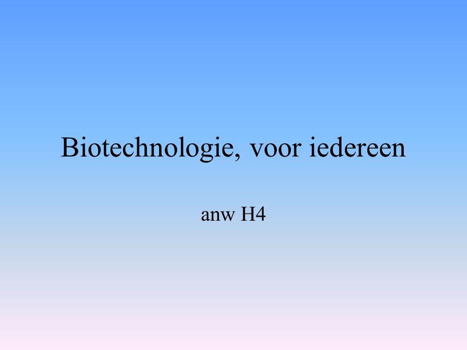 Biotechnologie, voor iedereen anw H4