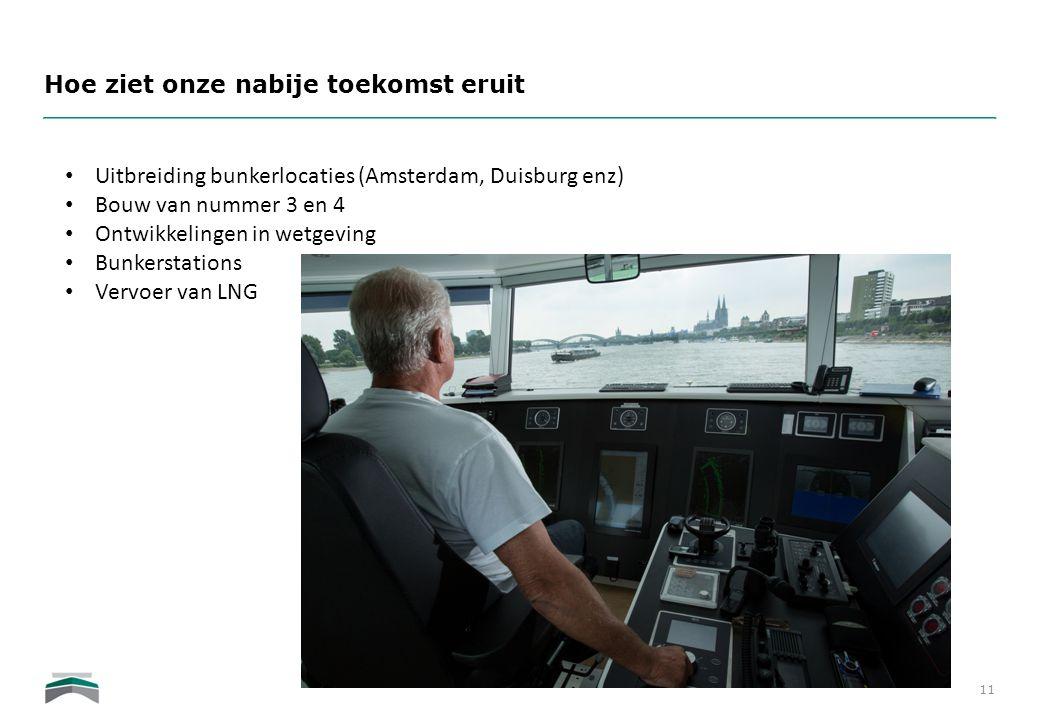 Hoe ziet onze nabije toekomst eruit 11 • Uitbreiding bunkerlocaties (Amsterdam, Duisburg enz) • Bouw van nummer 3 en 4 • Ontwikkelingen in wetgeving •