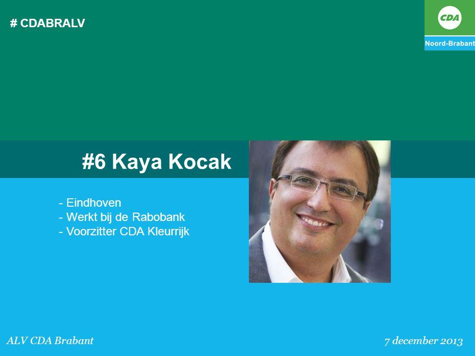 # CDABRALV ALV CDA Brabant 7 december 2013 #6 Kaya Kocak - Eindhoven - Werkt bij de Rabobank - Voorzitter CDA Kleurrijk