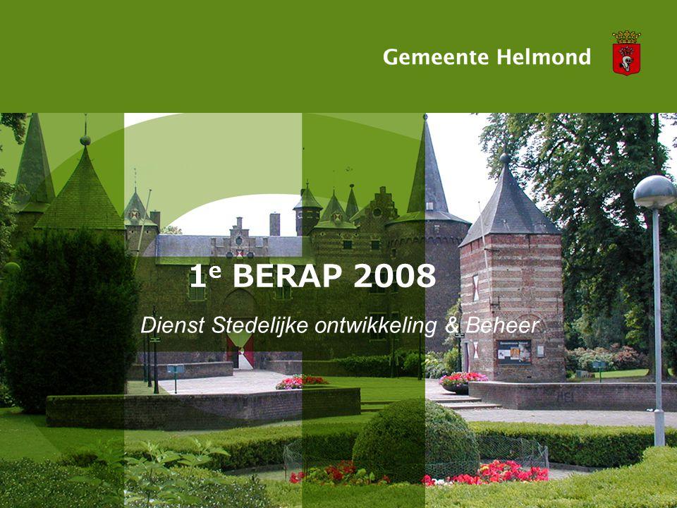 1 e BERAP 2008 Dienst Stedelijke ontwikkeling & Beheer