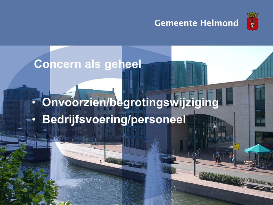 Datum: 13-05-2008 1e berap 2008 I pagina68 Concern als geheel •Onvoorzien/begrotingswijziging •Bedrijfsvoering/personeel