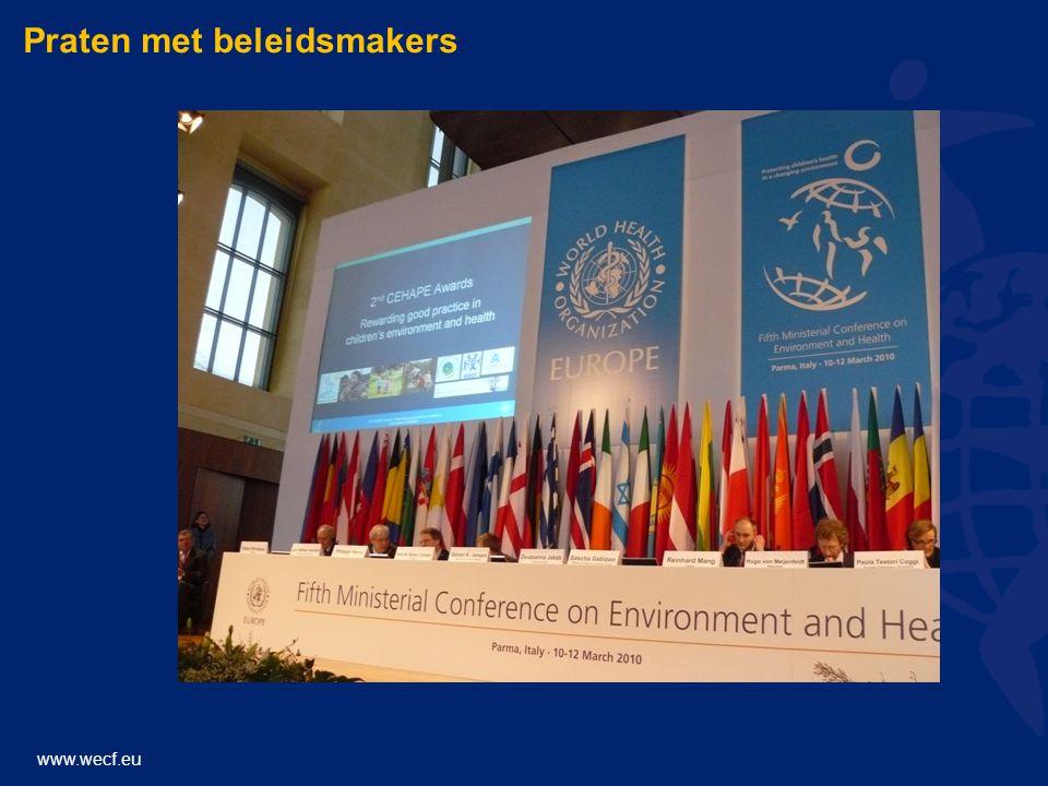 www.wecf.eu Praten met beleidsmakers