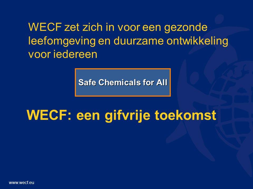www.wecf.eu WECF zet zich in voor een gezonde leefomgeving en duurzame ontwikkeling voor iedereen WECF: een gifvrije toekomst Safe Chemicals for All