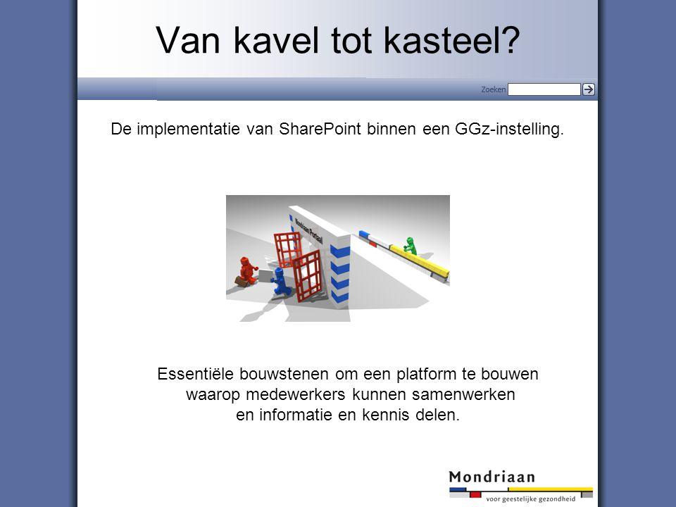 1 Van kavel tot kasteel.De implementatie van SharePoint binnen een GGz-instelling.