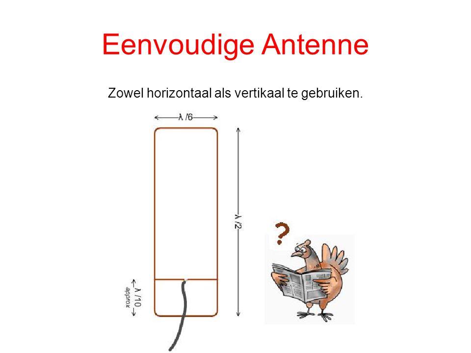 Eenvoudige Antenne Zowel horizontaal als vertikaal te gebruiken.