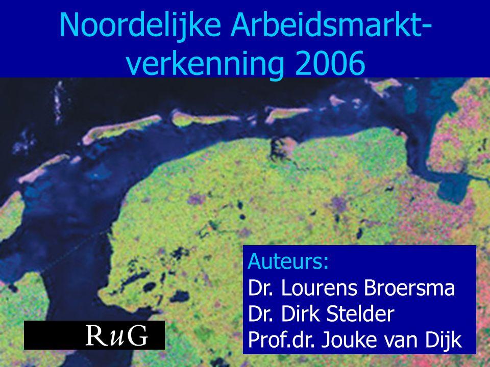 Noordelijke Arbeidsmarkt- verkenning 2006 Auteurs: Dr. Lourens Broersma Dr. Dirk Stelder Prof.dr. Jouke van Dijk