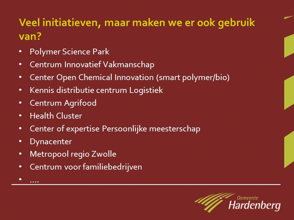 Veel initiatieven, maar maken we er ook gebruik van.