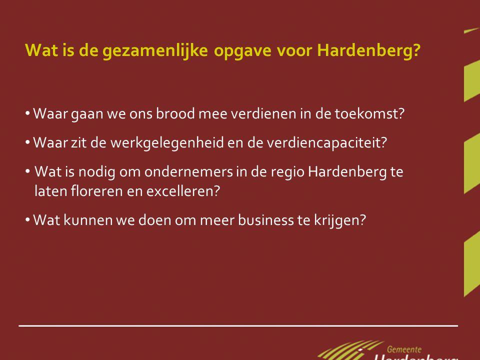Wat is de gezamenlijke opgave voor Hardenberg.