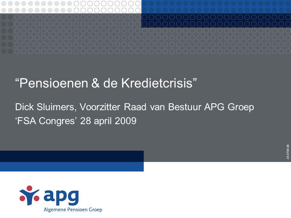 Agenda •Nederlands pensioenstelsel •Pensioenfondsen & de Kredietcrisis