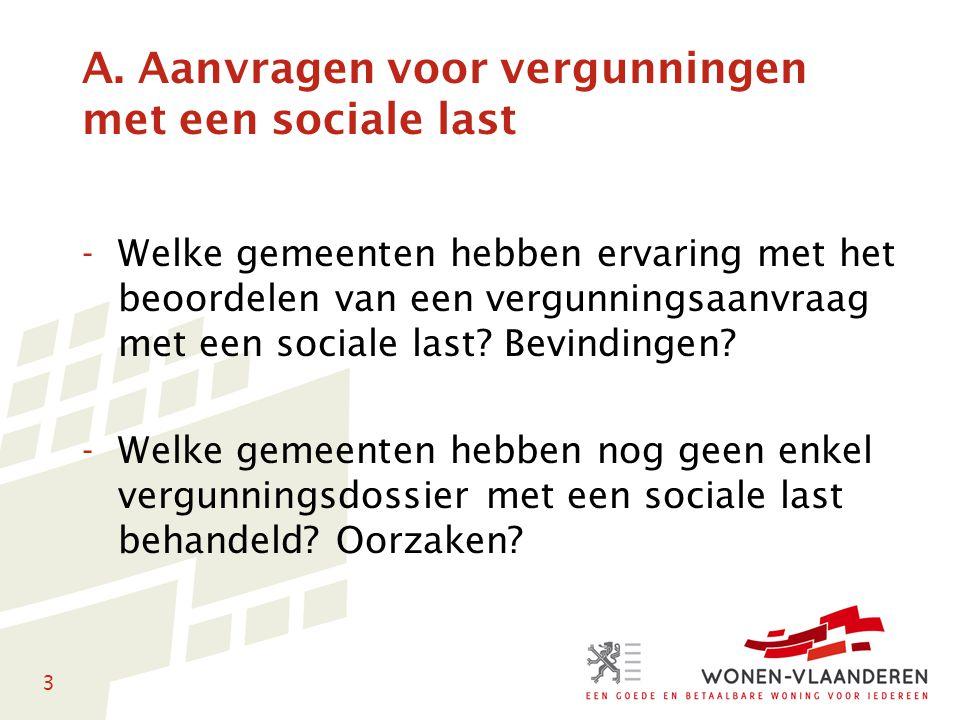 3 A. Aanvragen voor vergunningen met een sociale last -Welke gemeenten hebben ervaring met het beoordelen van een vergunningsaanvraag met een sociale