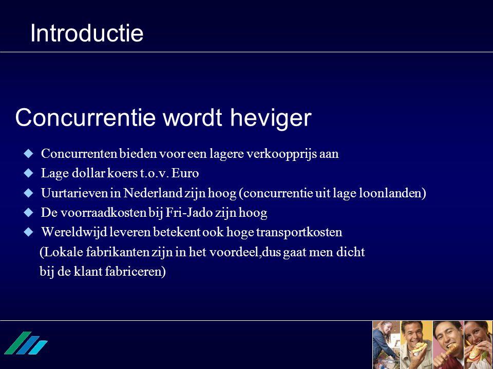 Concurrentie wordt heviger  Concurrenten bieden voor een lagere verkoopprijs aan  Lage dollar koers t.o.v. Euro  Uurtarieven in Nederland zijn hoog