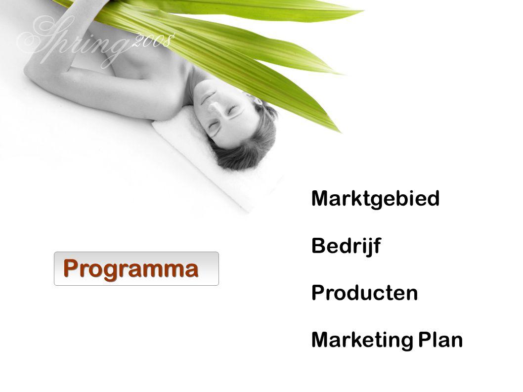 Programma Marktgebied Bedrijf Producten Marketing Plan