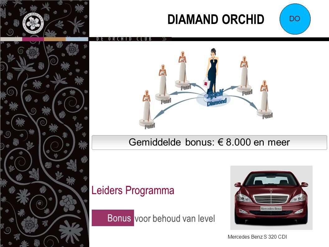 Gemiddelde bonus: € 8.000 en meer DIAMAND ORCHID DO Bonus voor behoud van level Leiders Programma Mercedes Benz S 320 CDI